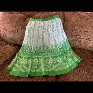 All cotton flouncy bohemian skirt